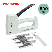 Nail-Gun Stapler Furniture-Nailer WORKPRO Plastic with 800 8mm/10mm And Light-Duty