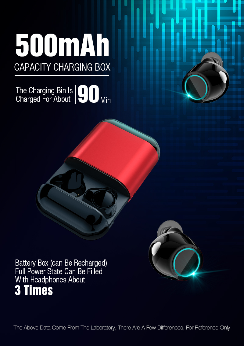 TWS Earbuds Wireless Headphones Bluetooth Earphone Stereo Headset Earphone For Phone With Charging Box Wireless Bluetooth Headphones (1)