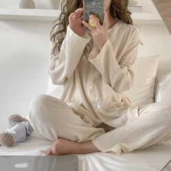 Pyjama d'allaitement fin 100% coton, tenue de nuit ample pour femmes enceintes