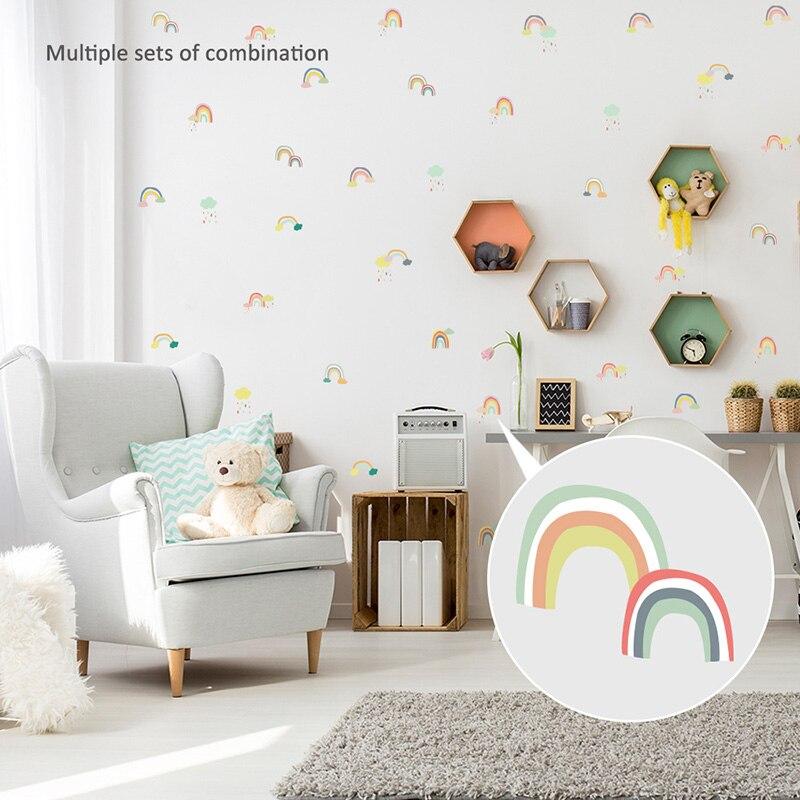 guarder/ía de beb/és Fondo de patr/ón de dibujos animados extra/íble Etiqueta de la pared Etiqueta de la pared Impermeable para habitaciones de ni/ños Multicolor dormitorio de ni/ños y ni/ñas
