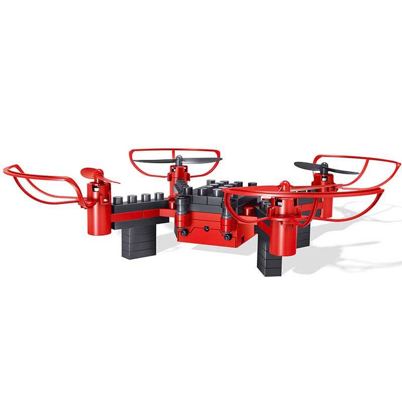Creative DIY Assembled Building Blocks Quadcopter 2.4G Unmanned Aerial Vehicle Remote Control Aircraft Educational Airplane Mode