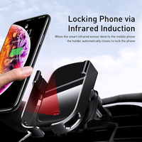 10W Car Qi Wireless Charger Intelligent Infrared Fast Cellphones & Telecommunications