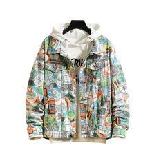 Estilo 2020 de primavera de los hombres de la moda denim chaqueta bomber casual punk rock streetwear ropa