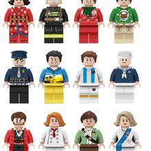 House-Toys Building-Block-Toys Mini Figure Action Christmas Girls Kids Boys Children