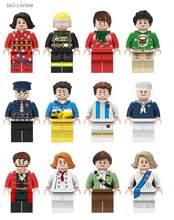 Mini şekil eylem yapı blok oyuncaklar kız erkek kariyer karakterler çocuklar oyun evi oyuncaklar çocuk noel yeni yıl hediyeleri