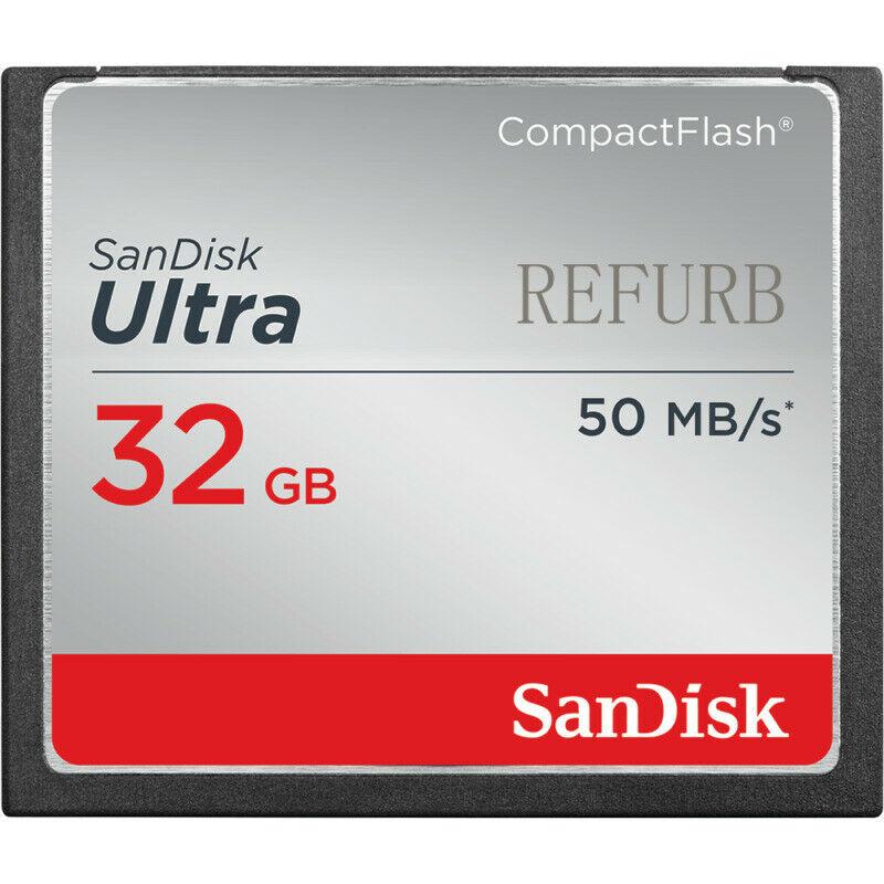 Sandisk 32 Гб CF CompactFlash компактная флеш-карта памяти 16 ГБ 8 ГБ 25 МБ/с./С/50 МБ/с./с ультра 32 г 16 г 8 г для цифровой камеры оригинал
