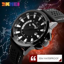 цена SKMEI Fashion Men Watches Complete Calendar Quartz Wristwatches 30M Waterproof Outdoor Sport Watch Relogio Masculino 9152 онлайн в 2017 году
