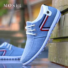 Men Casual Shoes Slip On Loafers Italian Breathable Canvas