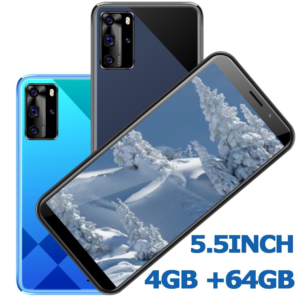 Мобильный телефон с 4 Гб ОЗУ, Android, глобальная версия, большой экран 5,5 дюйма, смартфоны 5i Pro, 64 Гб ПЗУ, 13MP HD, распознавание лица, разблокированны...