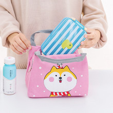 Insulated Lunch Bag Thermal Tote Bag Cooler Cute Shiba Inu Polar Bear Unicorn School Girl Hot Food Delivery Thickened waterproof