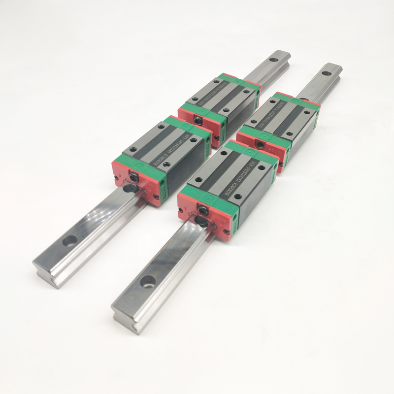 20mm Type 2pcs  HGR20 Linear Guide Rail L300mm rail + 4pcs carriage Block HGH20CA blocks for cnc router