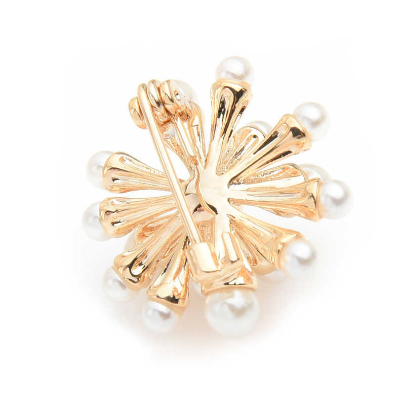 Wuli Bayi Mutiara Karang Bunga Kecil Bros Pin untuk Wanita Kerah Pin Perhiasan Hadiah Pernikahan Aksesoris