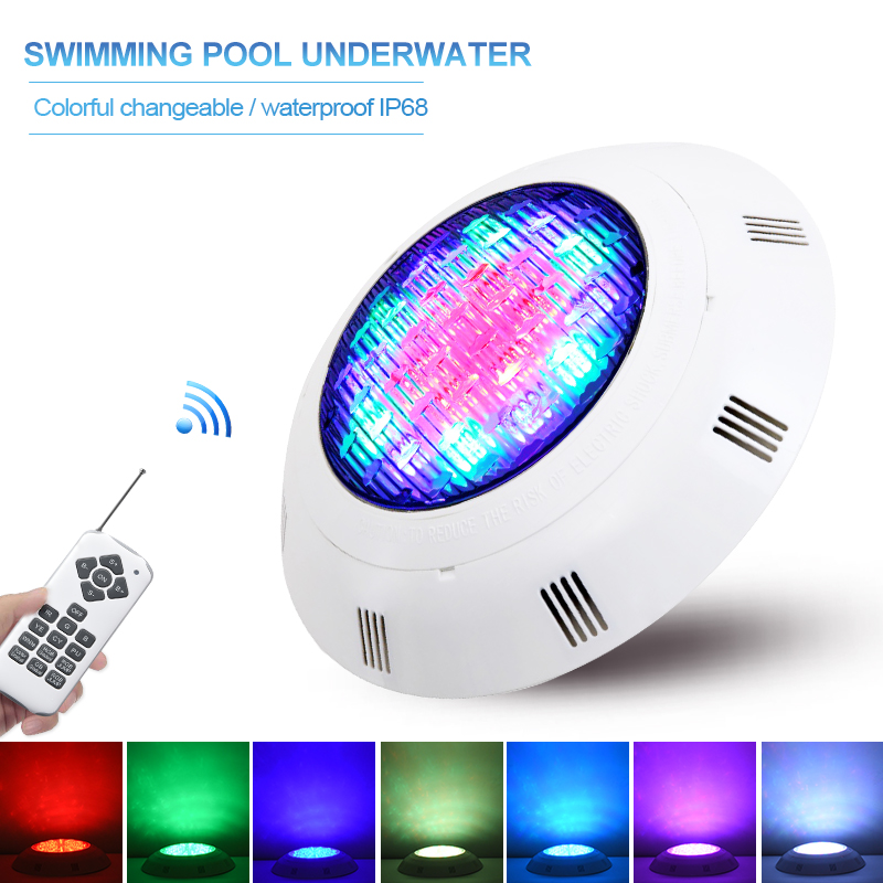 IP68 Waterproof LED Swimming Pool Lights Wall-Mounted Underwater Lights Color Changing RGB Lamp Piscina Lampe 12V Remote Control
