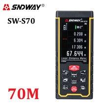 Sndway recarregável 70m display a cores de alta precisão laser rangefinder medidor de distância trena laser fita medida diastímetro