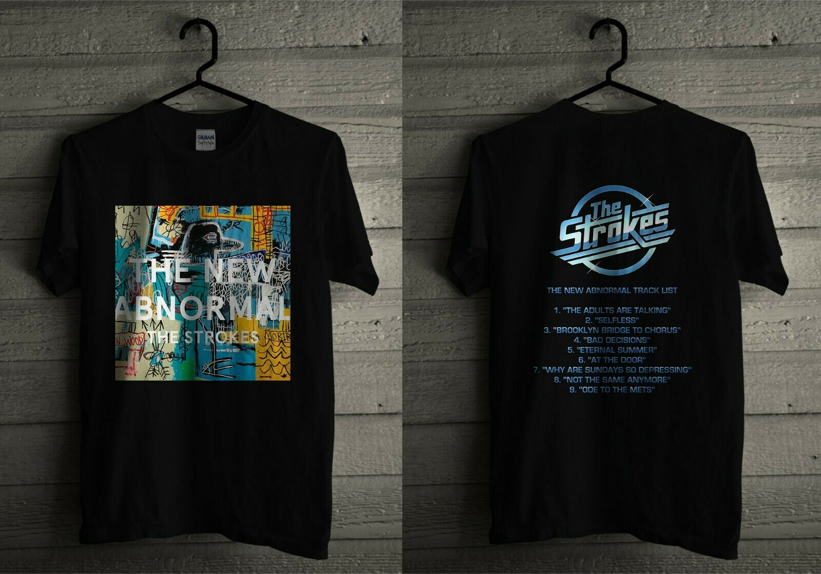 The New Abnormal The Strokes Album Cover T Shirt With Track List