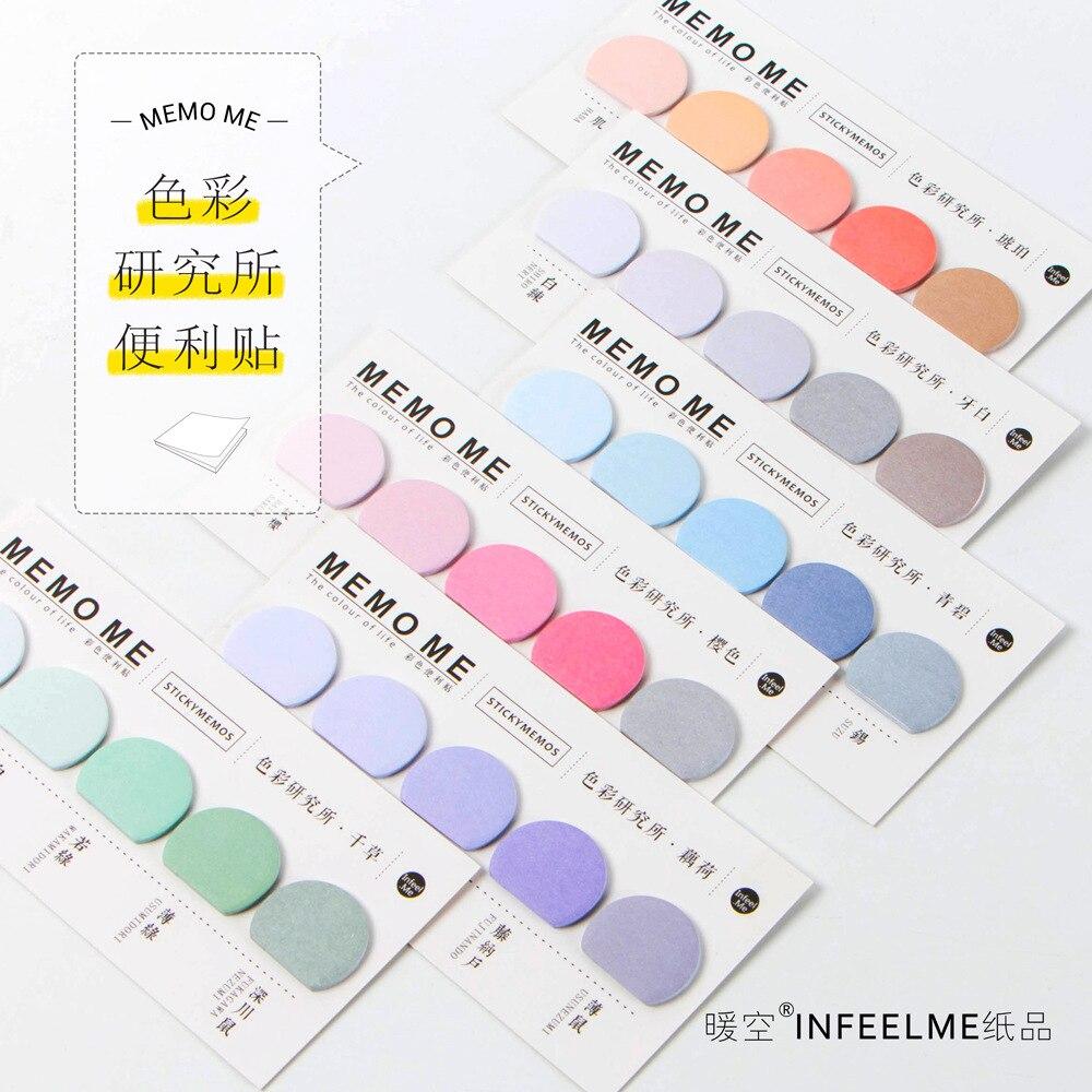 Journamm 150 pièces couleur unie lune forme Notes autocollantes bureau kawaii Notes journal créatif Notes déco papeterie Scrapbooking cartes