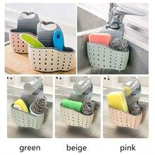 Estante de fregadero de esponja de jabón estante de drenaje de cocina soporte de fregadero de cocina Portátil Bolsa de colgar cesta de almacenamiento de cocina para el hogar