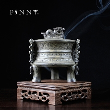 PINNY Ceramic Incense Burner Binaural Creative Stick Censer Sandalwood Aroma Furnace Buddhist Temple Ceramic Incense Burner