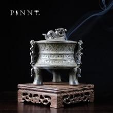 PINNY quemador de incienso de cerámica Binaural, incensario de sándalo, horno de aromas, templo budista, quemador de incienso de cerámica