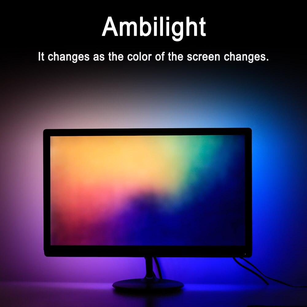 Ambilight-Kit Computer-Screen Usb-Led-Strip Dream Color Desktop RGB Full-Set 3M For HDTV