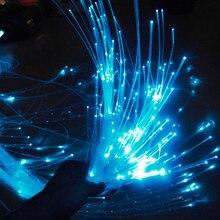 1,0 мм Мерцающая Флэшка PMMA Пластик волоконно-оптический кабель освещения, на свадьбу, на праздник, День рождения украшения 10/50/100 м