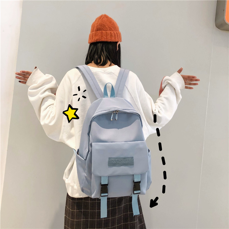 Puimentiua New Waterproof Nylon Backpack For Women Multi Pocket Travel Backpacks Female School Bag Teenage Girls Book Mochilas
