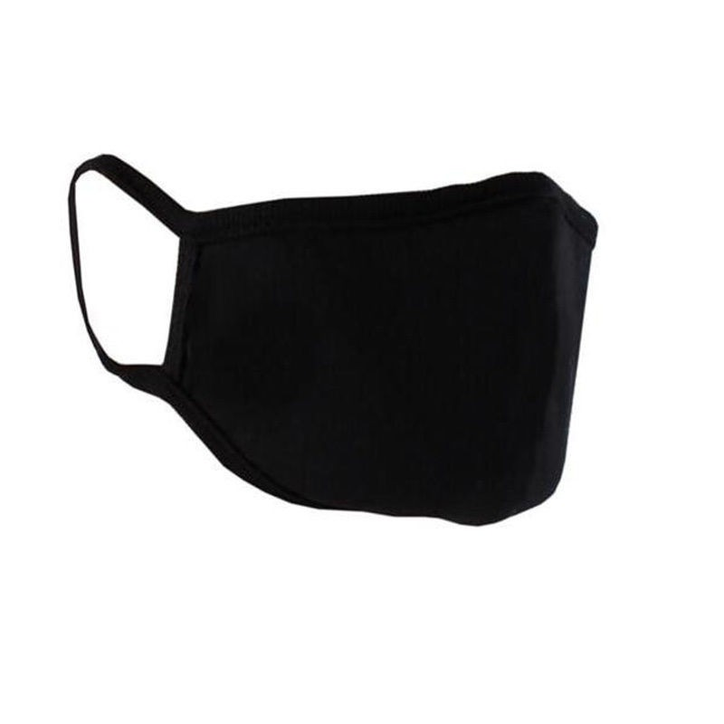 2Pcs Dustproof Mouth Face Mask Korean Fashion Men Women Black Muffle Mouth Mask Unisex For Motorcycle Outdoor