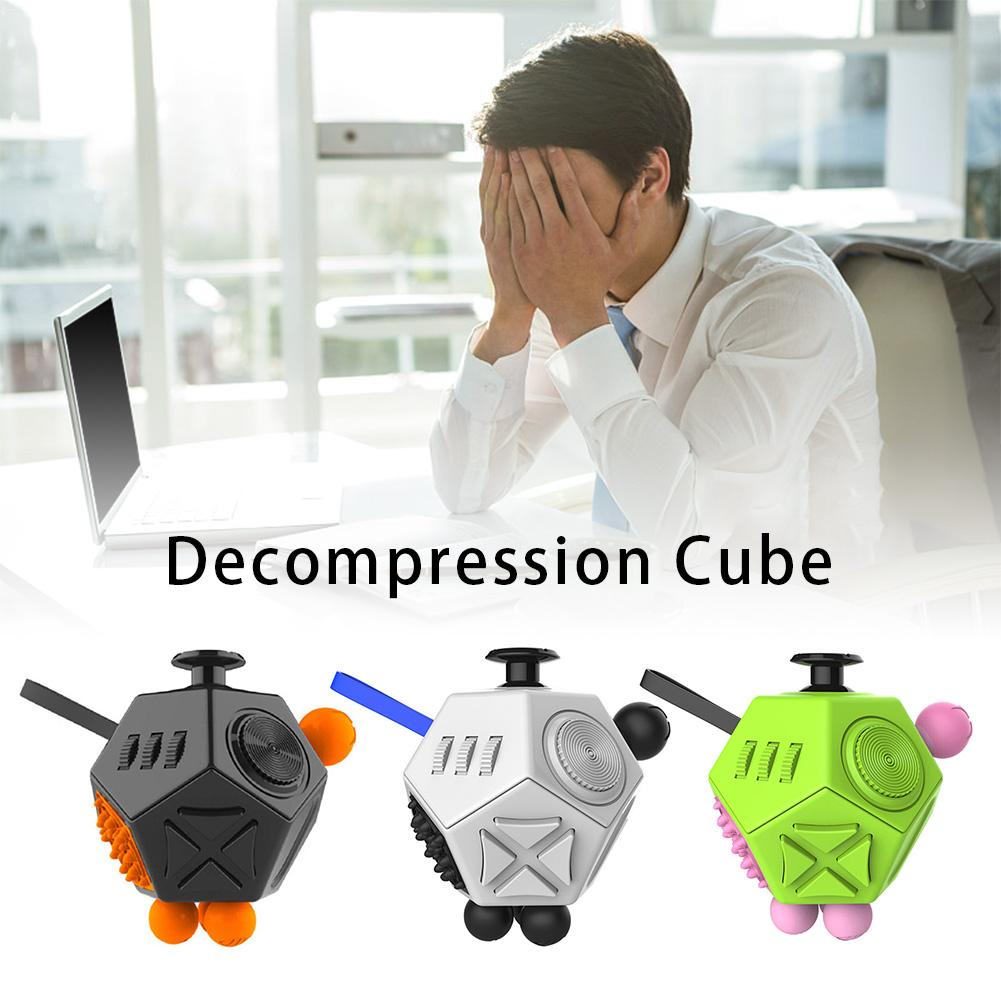 12-Face Miniature Novelty Decompression Cube Toy Reduce Anxiety Stress For Adults Children's Strange Innovative Toy