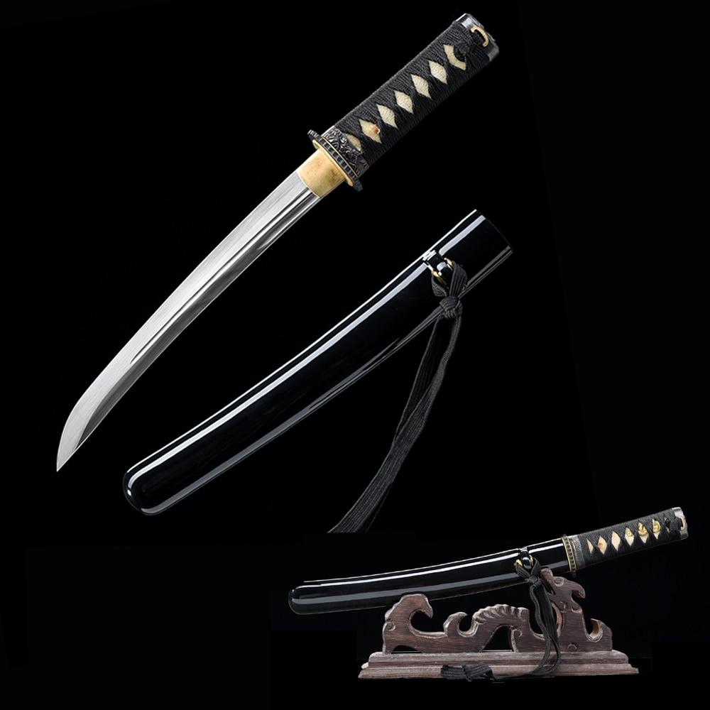 Small Knife-Japanese Tanto 1045 Carbon Steel Sharpness-Handmade Samurai Sword-Letter Opener-Double Edges