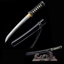 Kleine Messer-Japanische Tanto 1045 Carbon Stahl Schärfe-Handgemachte Samurai Schwert-Brief Opener-Doppel Kanten