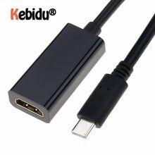 Adaptador compatible con USB tipo C a HDMI, 3,1 macho a HDMI, Cable hembra compatible con Samsung S9/8 Plus, HTC, HUAWEI, LG G8