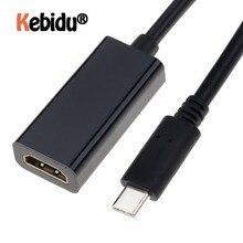 USB C tipi C için HDMI adaptörü 3.1 erkek HDMI kadın kablo adaptörü dönüştürücü Samsung S9/8 artı HTC HUAWEI LG G8
