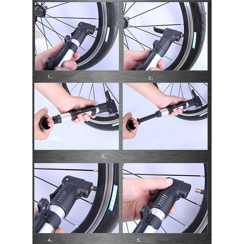 Wheelup High Pressure Portable Bicycle Cycling Air Pump Inflator Tyre Tire Ball
