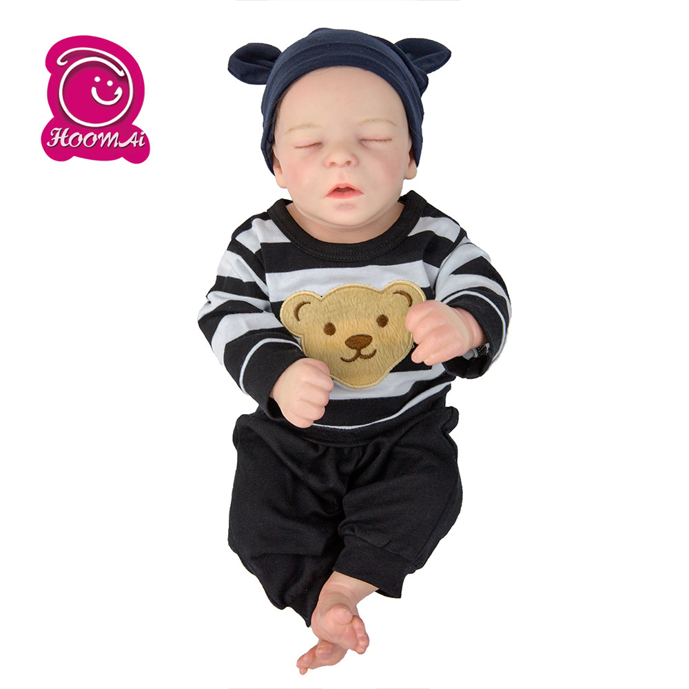 Hoomai Toddler Doll Reborn Baby 45CM Soft Body Bebe Reborn Dolls For Children Birthday Gift Toy