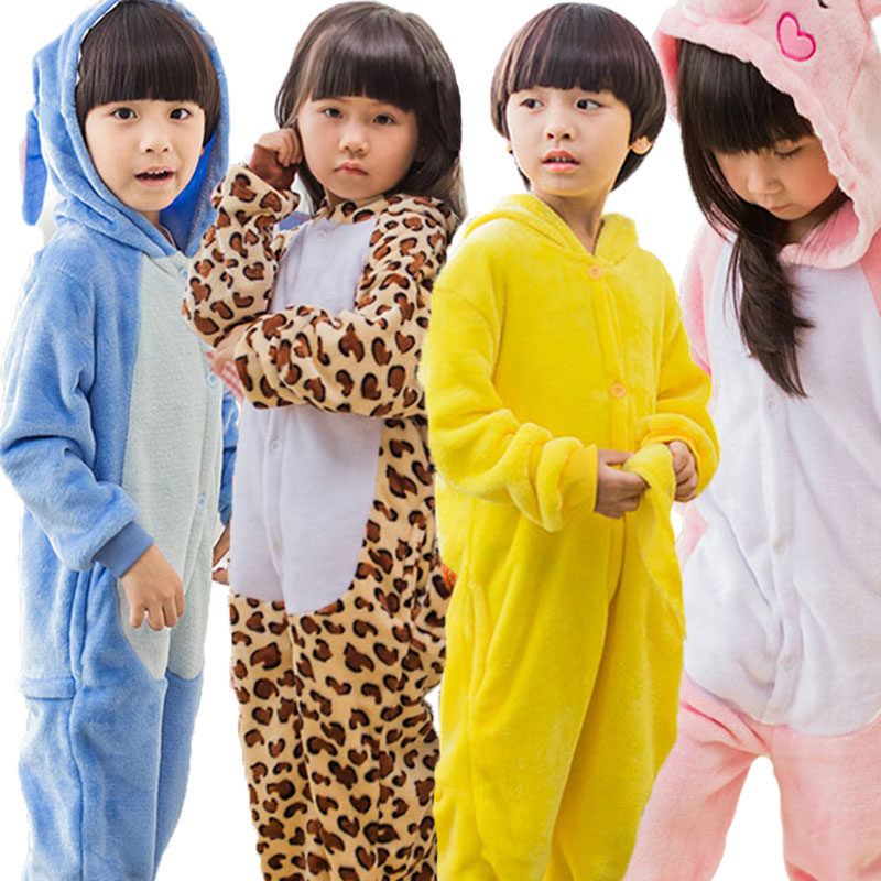 Children Kigurumi Unicorn Pajama Kid Baby Anime Overall Totoro Jumpsuit Onesie Funny Stitch Onepiece Animal Carnival Cosplay