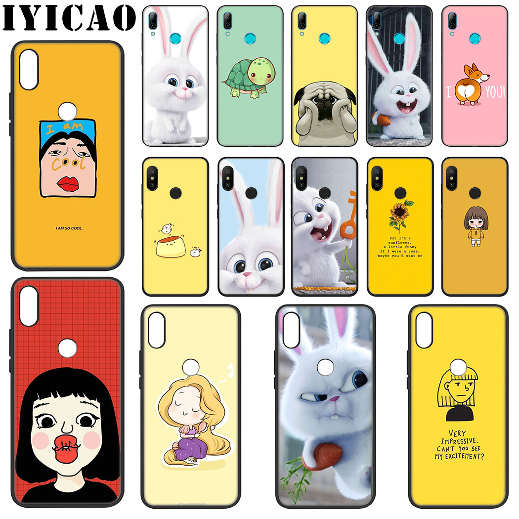 IYICAO Cute Cartoon Girl <font><b>Rabbit</b></font> Soft Silicone Case for <font><b>Xiaomi</b></font> <font><b>Redmi</b></font> Note 4X 5 <font><b>6</b></font> 7 8 Pro 5A Prime Case image
