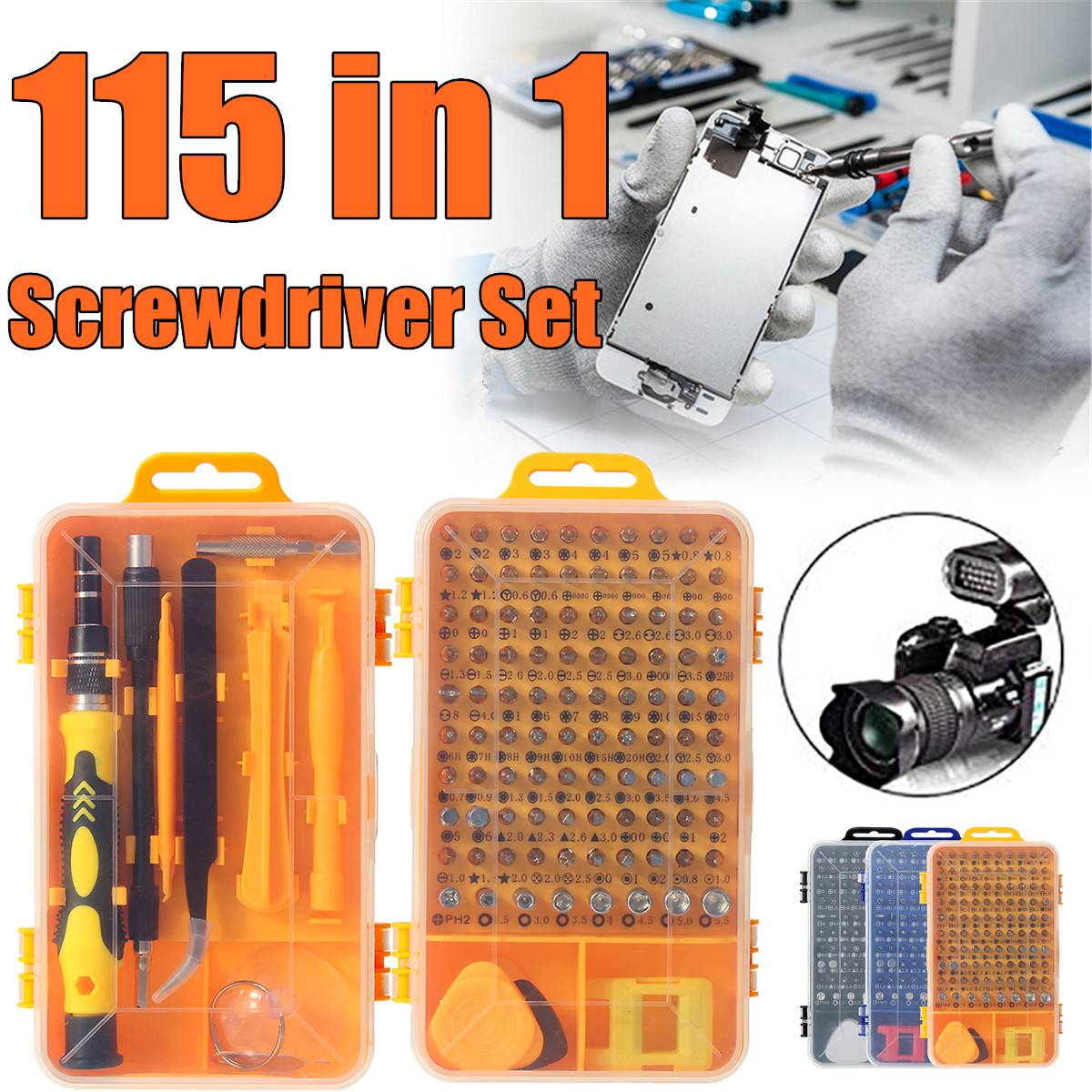 115 In 1 Screwdriver Set Mini Precision Screwdriver Multi Computer PC Mobile Phone Device Repair Hand Home Tools Screwdriver Set