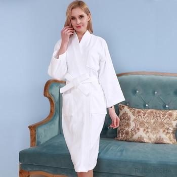 Star Hotel Women 100% Cotton Towel Bathrobe Plus Size Winter Warm Kimono Bath Robes Bride Long Terry Dressing Gown Men Sleepwear