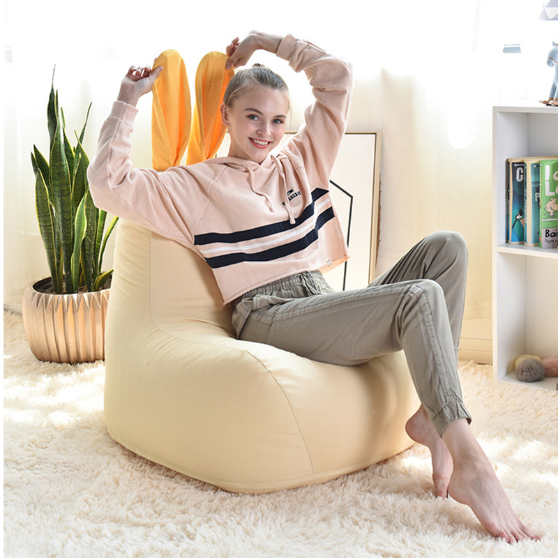 Cute Rabbit Adult Kid Chair Bean Bag Cover Chair Lazy Beanbag Sofa Lounger Bean Bag Sofa Bed Puff Tatami Pouf Bedroom Furniture