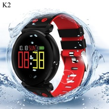 K2 Round Smart Watch Men IP68 Waterproof Bluetooth Sports Watch Sleep Heart Rate Monitor Blood Oxygen Smartwatch for IOS Android цена 2017