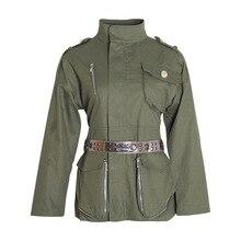 купить Fall 2019 New Coat Europe Casual Shoulder Buckle Frock Fashion Joker Tie Waist Long Sleeve Fashion Jacket Coat for Women по цене 2852.1 рублей