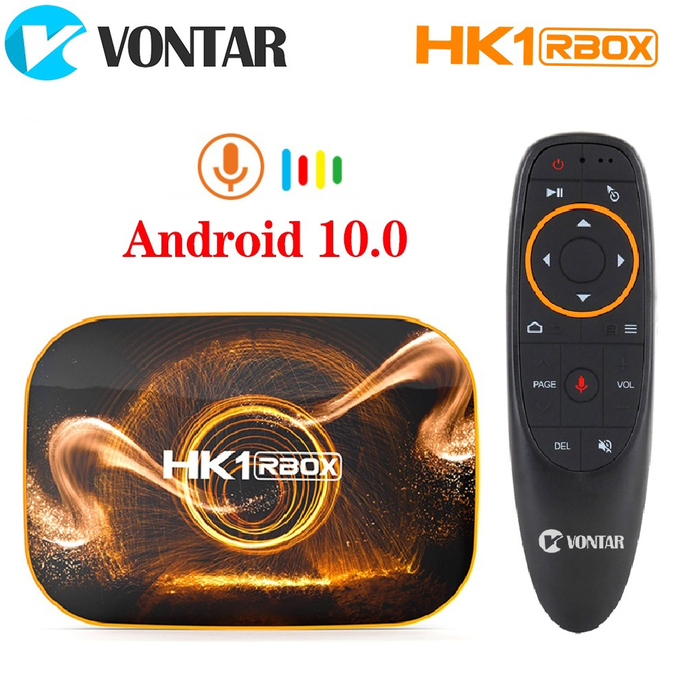 2020 VONTAR HK1 RBOX R1 TV Box Android 10 4GB 64GB Rockchip RK3318 1080p 4K Google Play HK1 BOX Set Top Box TVBOX Android 10.0