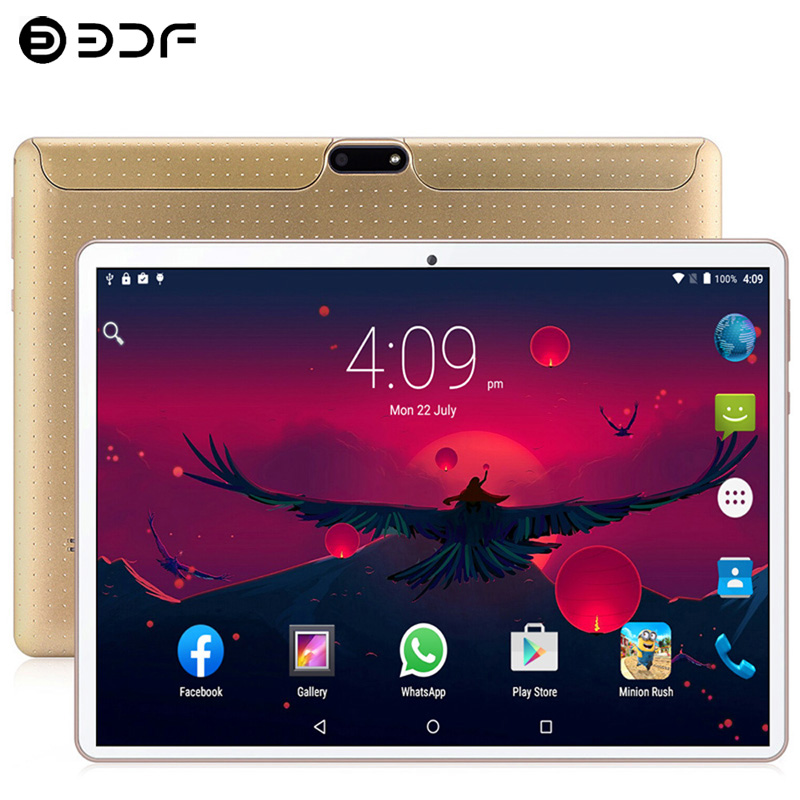 10.1 Inch Tablet PC New System 3G/4G Phone Call Android 9.0 Ten Core 8GB ROM 128GB Dual SIM Bluetooth WiFi GPS IPS Tablets PC
