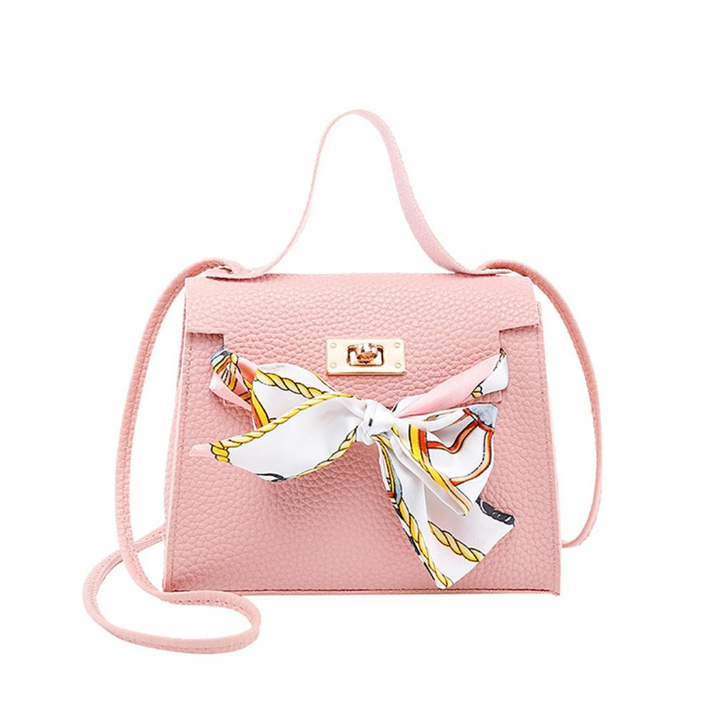 Women PU Leather Handbag Shoulder Lady Crossbody Bag Tote Messenger Satchel Purse With Scarf Decor