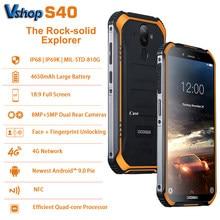 DOOGEE S40 Android 9.0 sağlam cep telefonu 5.5 inç 4650mAh MT6739 3GB RAM 32GB ROM 8.0MP IP68 /IP69K parmak izi 4G Smartphone