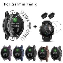 Мягкий защитный чехол для Garmin Fenix 6 6s 6x Pro Пылезащитная заглушка для часов 9H Защита экрана для Fenix 5 5x 5s Plus Гибкая стеклянная пленка