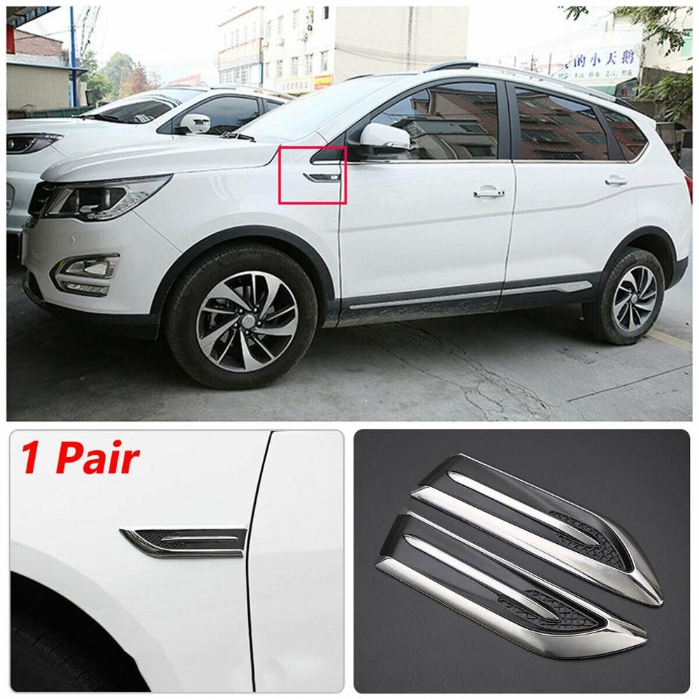 1pair Car Styling DIY Car 3D Shark Gill Side Air Vent Fender Cover Hole Intake Duct Flow Grille S Decorative Car Styling Sticker