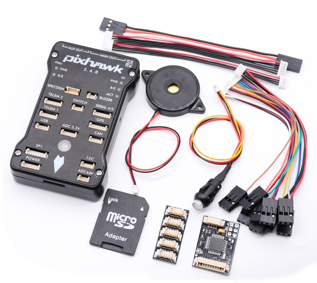 Pixhawk PX4 PIX 2.4.8 32 Bit Flight Controller Autopilot with 4G SD Safety Switch Buzzer PPM I2C for RC Quadcopter
