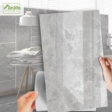 Funlife[R] NOUVELLE MAISON série [TM] 30x60cm gris marbre imperméable auto-adhésif carrelage autocollant pour sol cuisine salle de bain décor