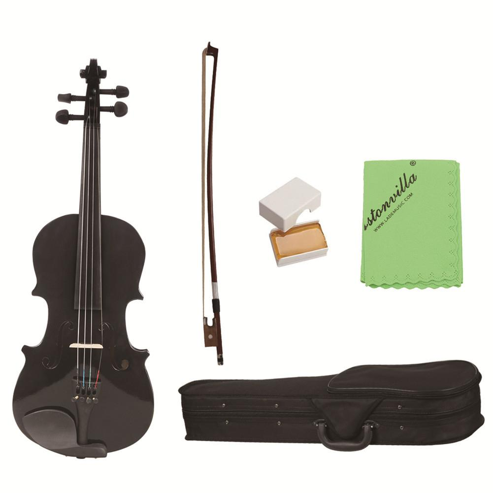 1/8 Violin Student Wood Violin Fiddle Exerciser Set with Storage Case Rosin Bow Gift for Kids Children Musical Lover